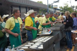 """RODEO WEEK - Pancake Breakfast @ """"ROARING GULCH"""" On Market St. between South St. and Placer St.   Redding   California   United States"""